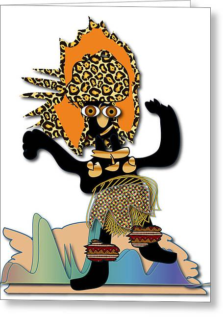 African Dancer 6 Greeting Card by Marvin Blaine