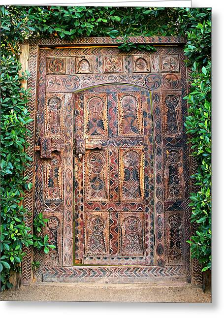 African Door Parker Palm Springs Greeting Card by William Dey
