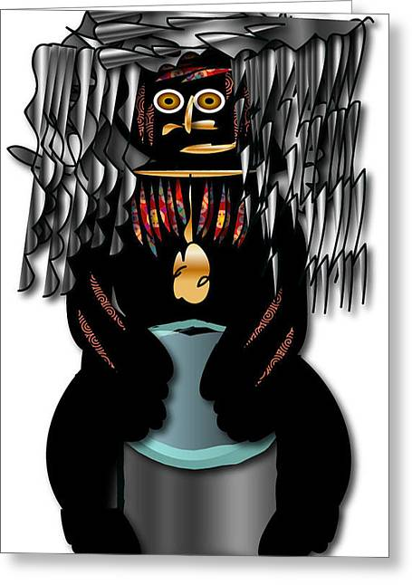 Greeting Card featuring the digital art African Drummer 2 by Marvin Blaine