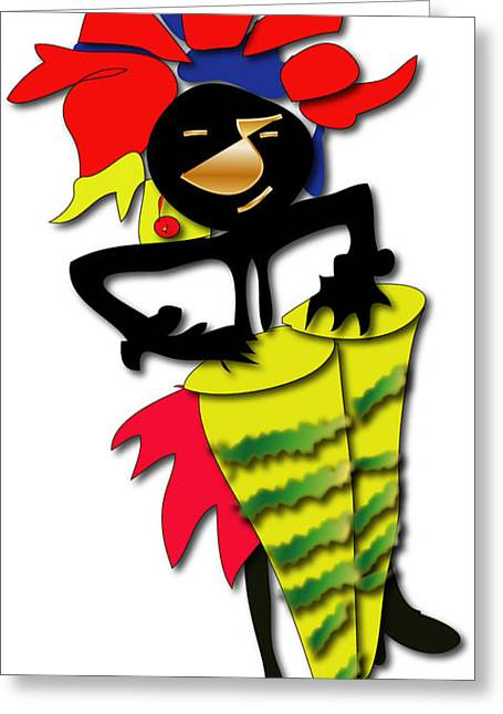Greeting Card featuring the digital art African Drummer by Marvin Blaine