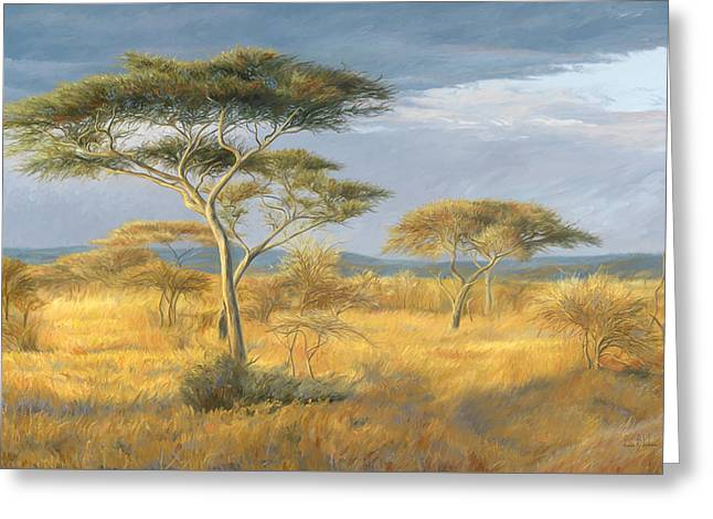 African Landscape Greeting Card