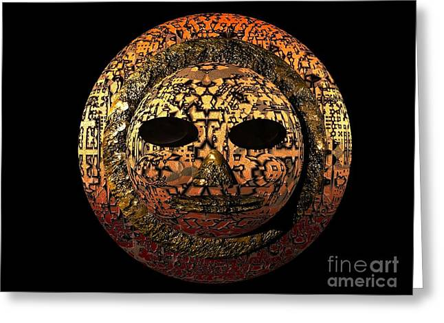 African Mask Series 1 Greeting Card