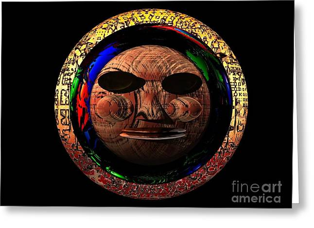 African Mask Series 2 Greeting Card by Jacqueline Lloyd