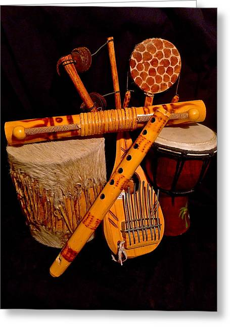 African Musical Instruments Greeting Card