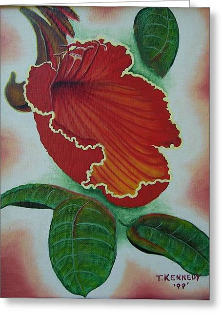 African  Tulip Tree Greeting Card