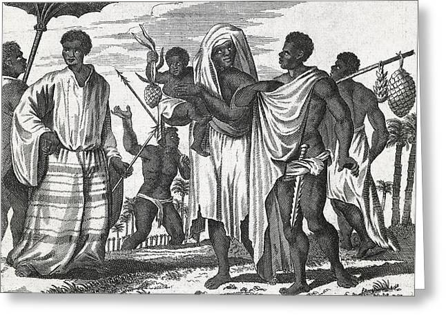 African Zenega People, 17th Century Greeting Card by Science Photo Library