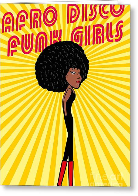Afro Disco Girls Greeting Card