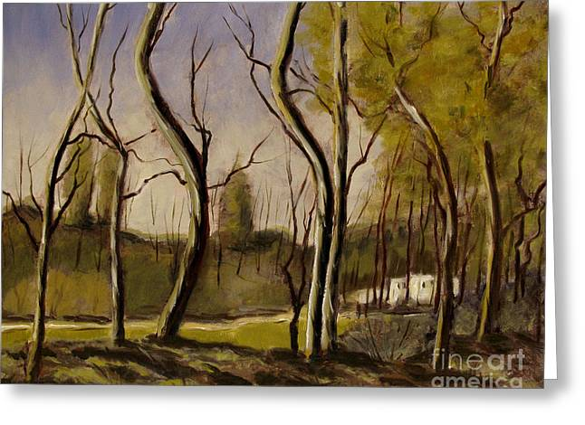 After A Corot Retouch Greeting Card