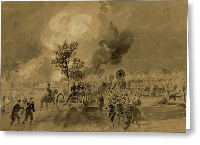 After Gaines Mill Sunday June 29th 1862, Drawing, 1862-1865 Greeting Card by Quint Lox