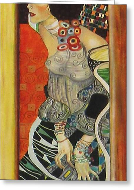 After Gustav Klimt Greeting Card