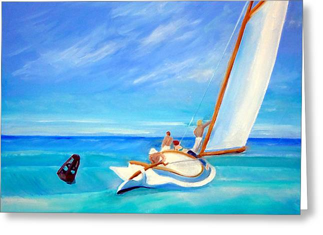 After Hopper- Sailing Greeting Card