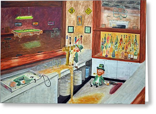 After Hours Party Greeting Card by Ken Figurski