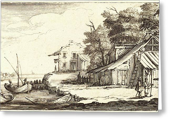 After Jacques Callot, River Bank, 1635 Or Greeting Card