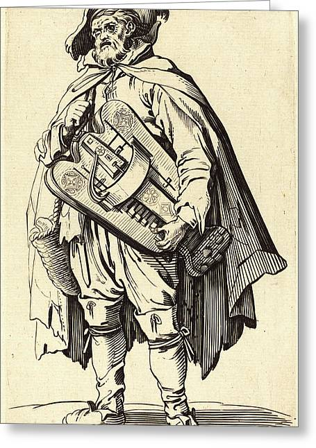 After Jacques Callot, The Hurdy-gurdy Player Greeting Card by Litz Collection