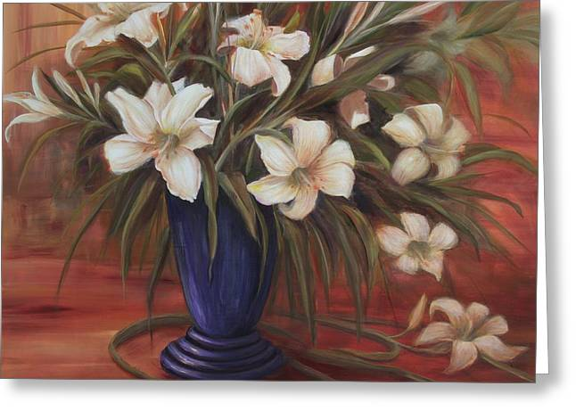 After Noon Lilies Greeting Card
