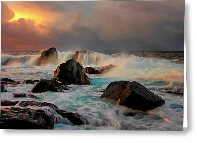 After Storm Wave Greeting Card