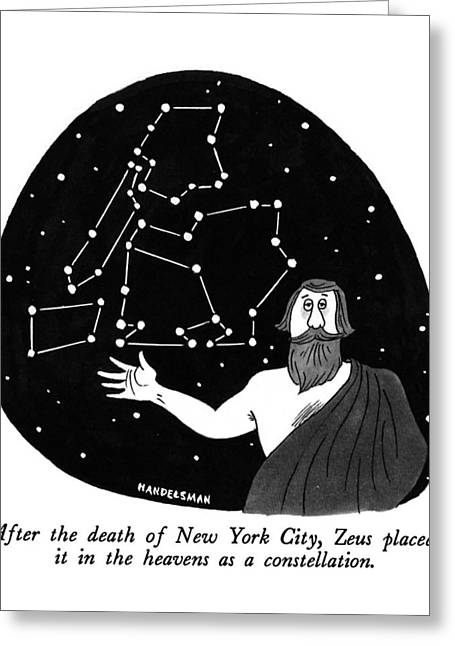 After The Death Of New York City Greeting Card by J.B. Handelsman