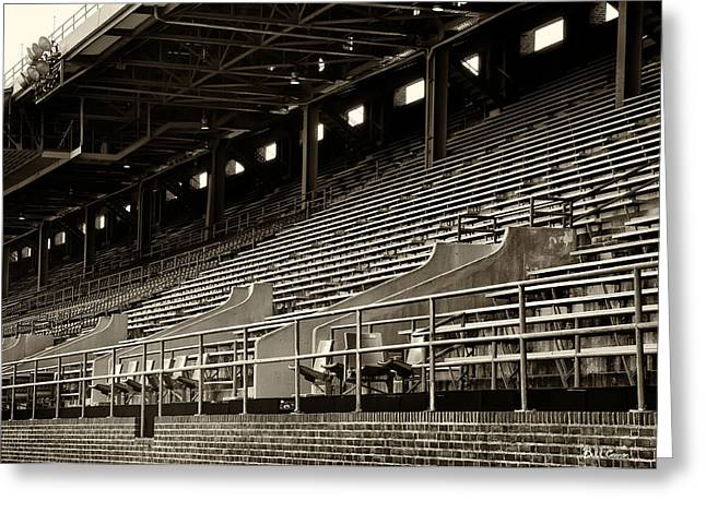 After The Game - Franklin Field Philadelphia Greeting Card by Bill Cannon