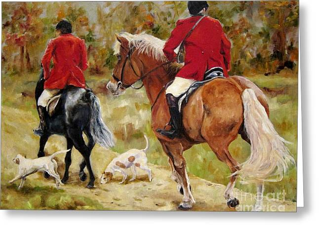 After The Hunt Greeting Card by Diane Kraudelt
