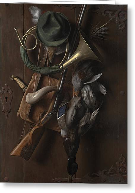 After The Hunt Greeting Card by William Michael Harnett