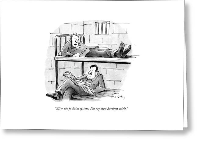 After The Judicial System Greeting Card by Mike Twohy
