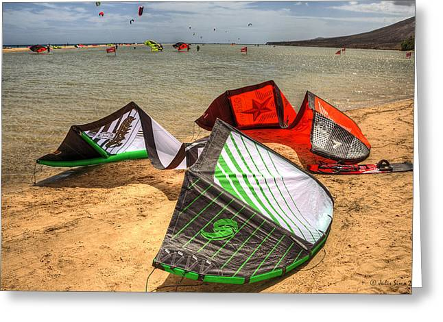 Greeting Card featuring the photograph After The Kite Session by Julis Simo