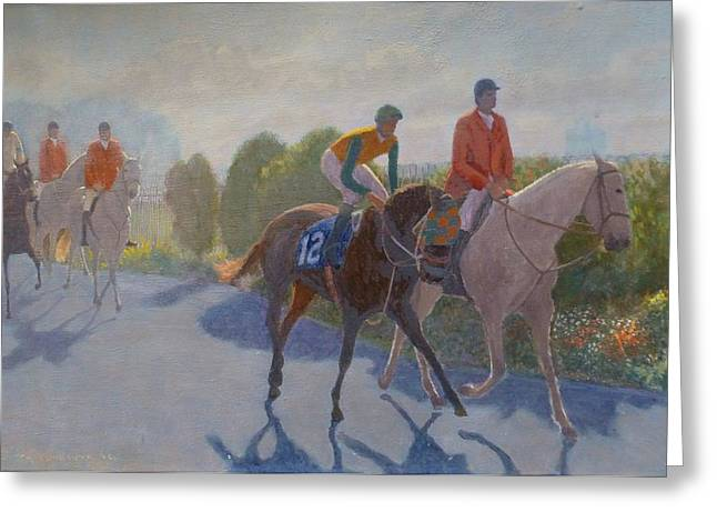 After The Race Greeting Card by Terry Perham