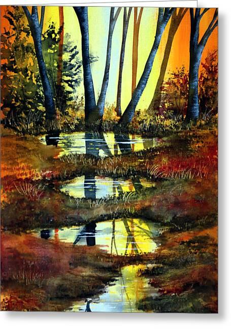 After The Rain Greeting Card by Ann Marie Bone
