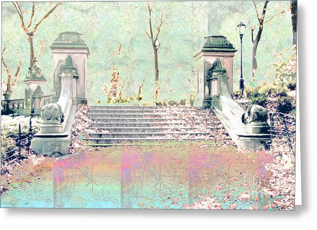 After The Rain In Central Park Greeting Card