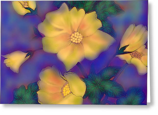 Greeting Card featuring the digital art After The Rain by Latha Gokuldas Panicker