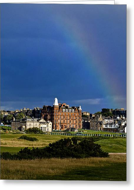 After The Storm At St. Andrews Golf Old Course Scotland Greeting Card