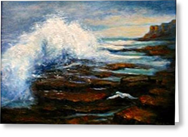 Greeting Card featuring the painting After The Storm by Gail Kirtz