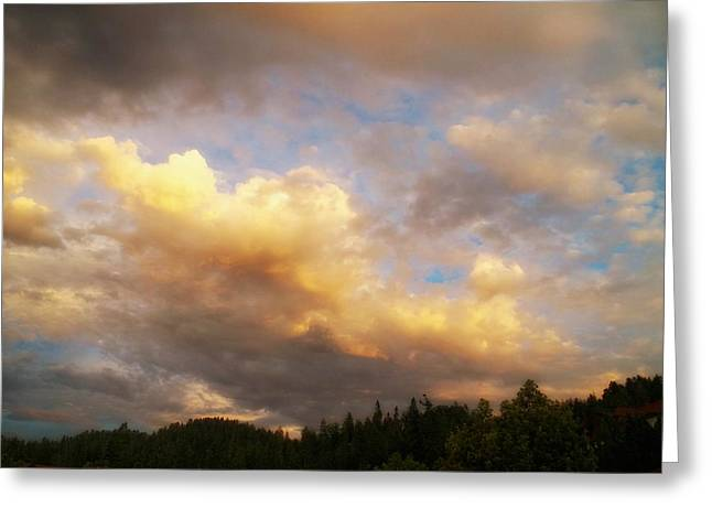 After The Storm -  Lake Arrowhead Greeting Card by Glenn McCarthy Art and Photography