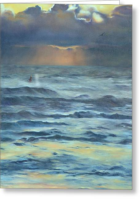 Greeting Card featuring the painting After The Storm by Lori Brackett
