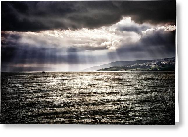 After The Storm Sea Of Galilee Israel Greeting Card by Mark Fuller