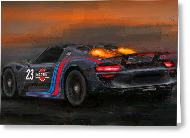 Afterburners On Greeting Card