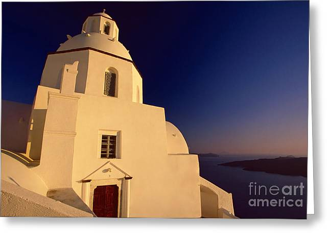 Afterglow Greeting Card by Aiolos Greek Collections