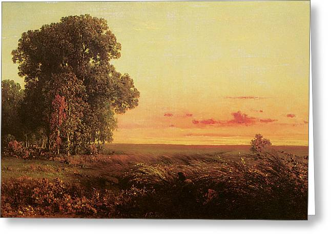 Afterglow On The Prairie Greeting Card
