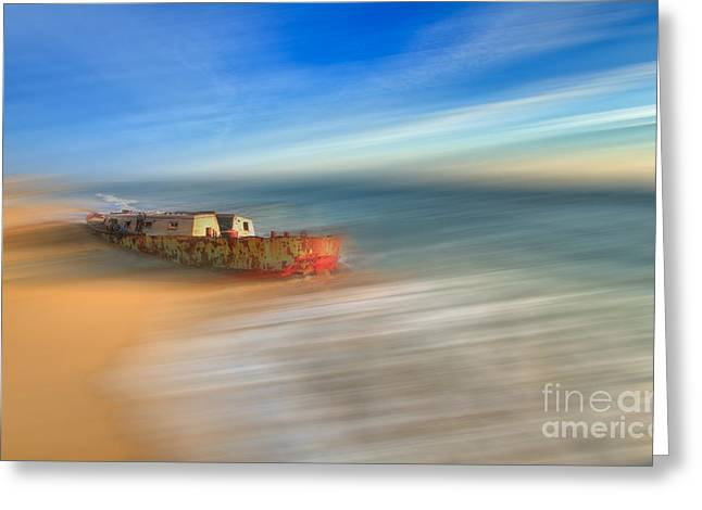 Aftermath - A Tranquil Moments Landscape Greeting Card by Dan Carmichael