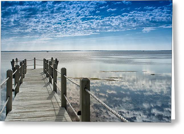 Afternoon At Currituck Sound Greeting Card