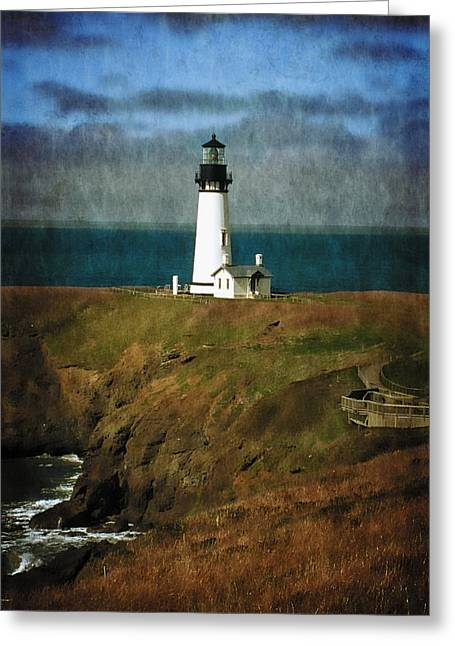 Afternoon At The Yaquina Head Lighthouse Greeting Card
