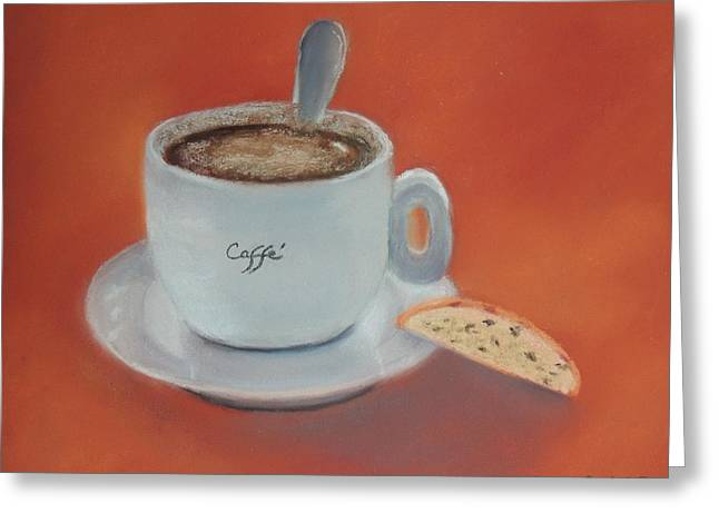Afternoon Caffe Greeting Card