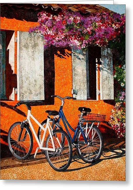 Afternoon Delight Greeting Card by Lenore Crawford
