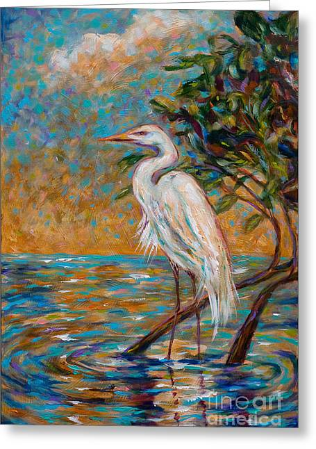 Afternoon Egret Greeting Card