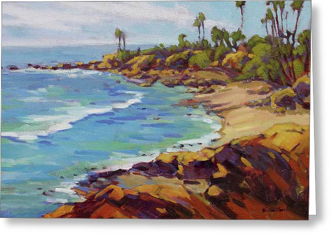 Afternoon Glow 2 Laguna Beach Greeting Card