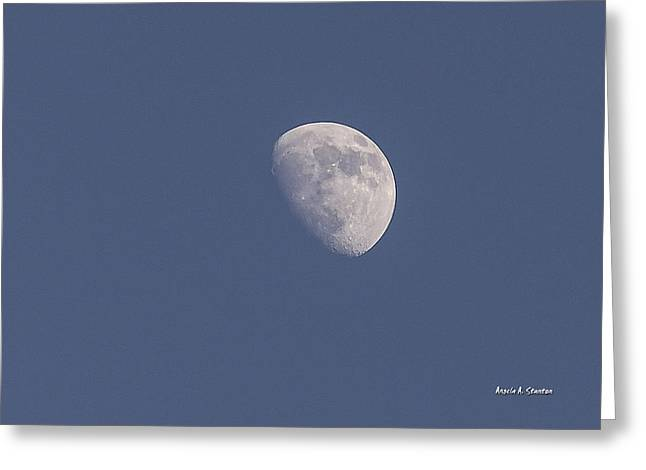 Afternoon Half Moon Greeting Card by Angela A Stanton