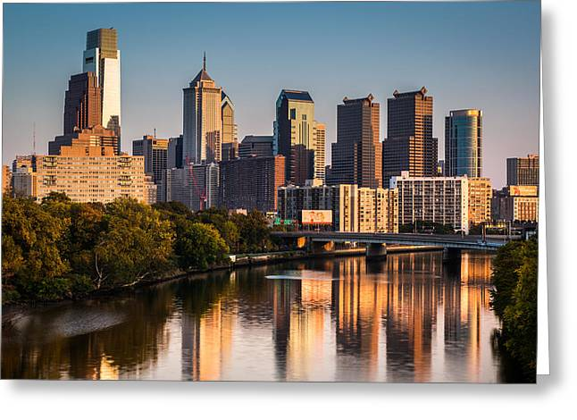 Greeting Card featuring the photograph Afternoon In Philly by Mihai Andritoiu