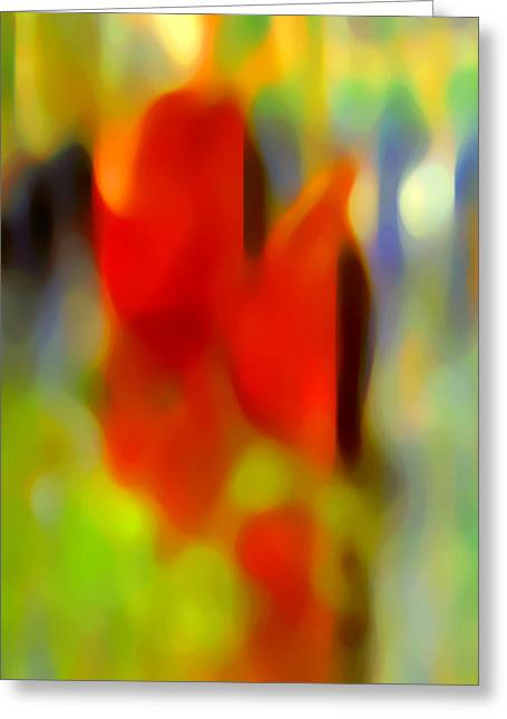 Afternoon In The Park Greeting Card by Amy Vangsgard