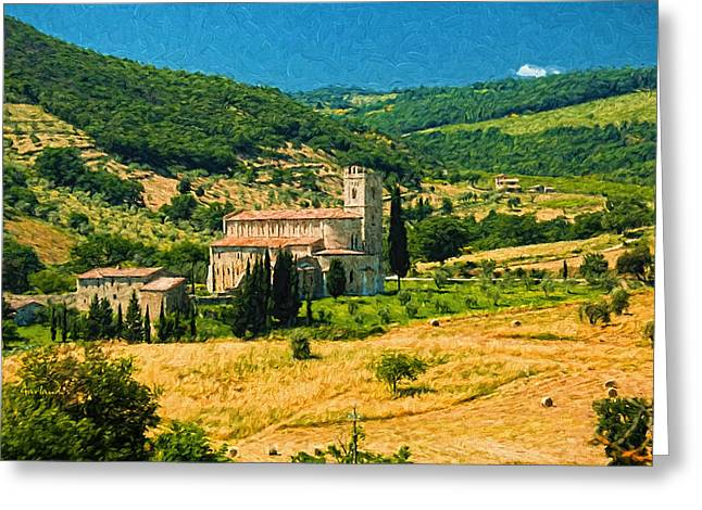 Afternoon In Tuscany  Greeting Card