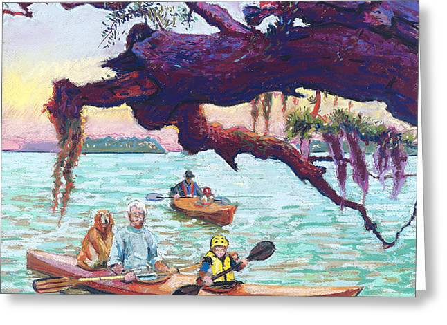 Afternoon Kayak Greeting Card by David Randall